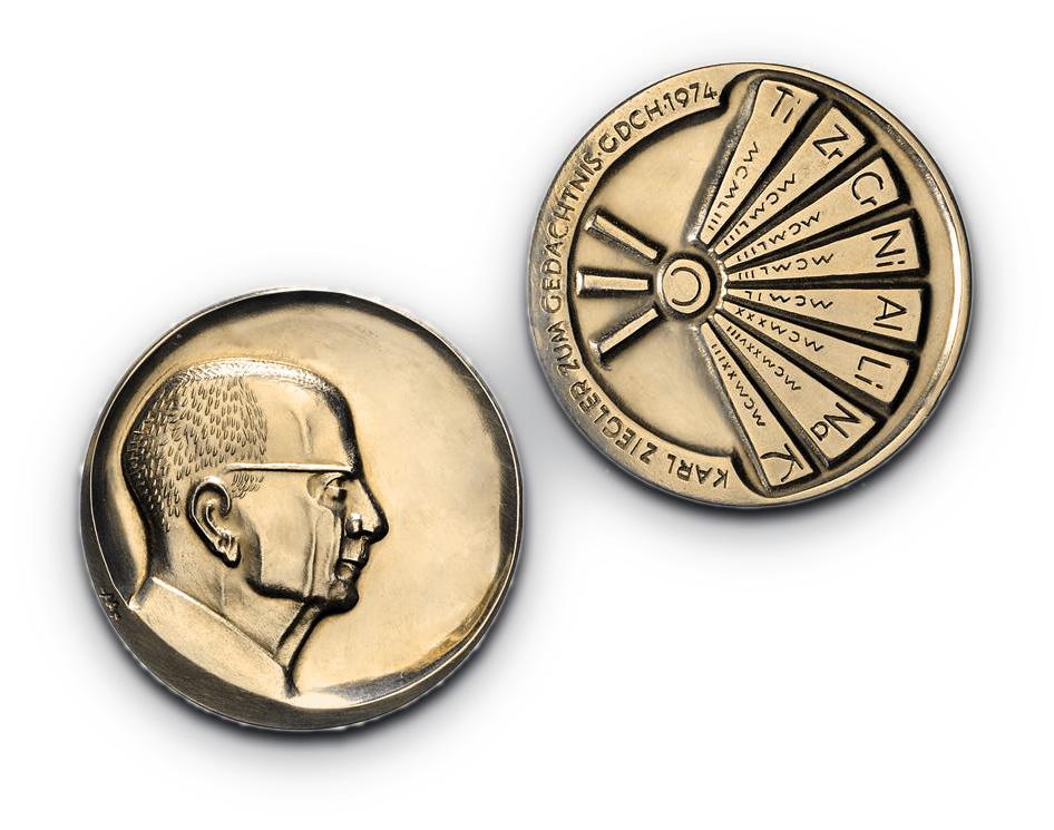 Gedenkmünze, Medaille der Karl-Ziegler-Stiftung zum Karl-Ziegler-Preis