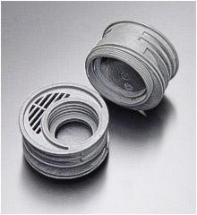 Spritzgegossenes PPE (PPO) für einen Filtereinsatz im Atemschutzgerät
